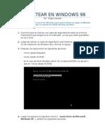 Evidencias Para Formatear Windows 98