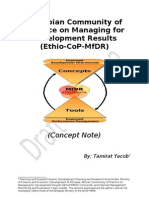 Ethio-CoP-MfDR-Concept Note June 2010 Version 2nd Draft[1]