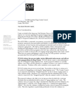 ACLU Letter to King County Council Re Gang Ordinances 050812