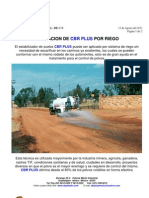 CBR PLUS Aplicacion por Riego Para Mitigar Polvos