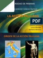 La Acción Pauliana