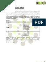 Programa Oficial Semana Papayo 2012