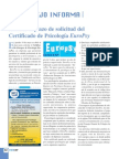 Certificado Europeo de Psicologo