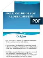 Role and Duties of a Loss Adjuster