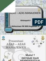 Asas-Asas Manajemen