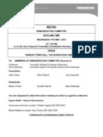 Remuneration Committee Agenda 9 May 2012