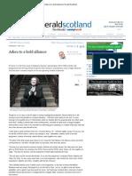 Adieu to a Bold Alliance _ Herald Scotland