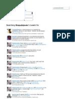 My tweets between November 2011 and May 2012