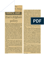 Zia's Afghan Policy