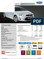 Mondeo 240PS Price List May2012