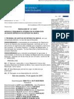 Resolucao 12/2007-TJBA  Regimento Interno Juizados Especiais e Turmas Recursais