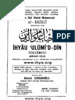 İhya'u Ulumid-Din İmam-ı Gazzali (4 cildin tümü)