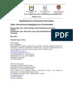 Innovaciones Pedagógicas en la Universidad