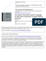 Christopher Alexander s Pattern Language an Alternative Exploration of Space Making Practices 2010 Journal of Architecture