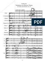 Tchaikovsky Rococo Variations Orch