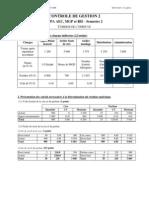 3AEC,MGP,RH - Partiel Contrôle de gestion 2 (corrigé) 2009-2010