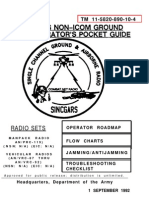 SINCGARS - Non-ICOM Ground Radio Operators Pocket Guide - Dept. of the Army TM11-5820-890!10!4 - 30 Pages