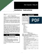 Start Capacitor Relay Kit
