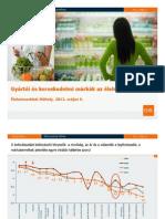 GfK - Mit mutatnak a számok? Élelmiszereknél hol erősek a gyártói márkák és hol növekednek a kereskedelmi márkák?