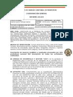 INFORME COORDINACION GENERAL AUCM ABRIL 2012