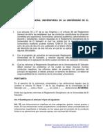 Avances Sobre Las Reformas Al Reg. Disciplinario Al 23 de Marzo 2012