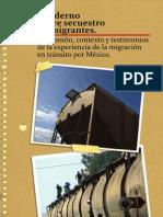 Cuaderno Secuestro migrantes