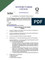 Agenda a Npc 14th May 12