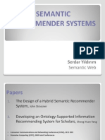 Semantic Recommender Systems