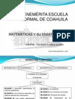 ENCUADRE 2011 MATEMÁTICAS 2011 - 2012