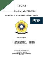 Diagram Alir Proses Re Distiller I