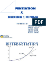 Differentiation & Maxima & Minima