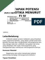 Penetapan Potensi Antibiotika Menurut Fi IV