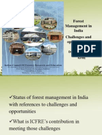Revised Forest Mgt Challenges Icfre Dg
