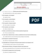 CORREÇÃO TESTE ESCOLHA MÚLTIPLA DESCOBERTAS