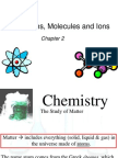 Chapter 2 Atoms Molecules Ions