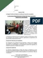 Boletín 034_ La Secretaría Departamental de Salud del Cauca garantiza salud de los marchantes
