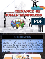 Maintenance of Human Resources