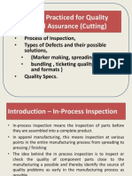 Inspection Procedures for Quality Assurance in Cutting