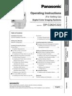 Owners Manual DP-C322 C262 SettingUp