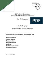 Studentischer Leitfaden Bachelorarbeit-Hausarbeit-BAMAHAProjRefPB 0911