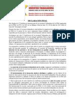 DECLARACION FINAL 2a Confer en CIA Internacional de La Juventud Trabajadora