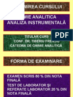 Chimie Analitica - Analiza Instrumental A Curs 1
