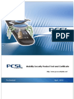 PCSL Mobility Security Product Test and Certificate for Android 201204 English