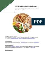 10 principii ale alimentaţiei sănătoase