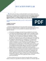 La Educacion Popular en Chile