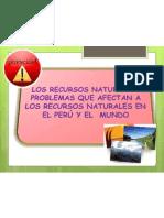 Problemas que Afectan a los Recursos Naturales