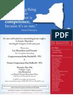 Reception for Dan Maffei, Kathy Hochul