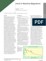 Uniformity Control in Reactive Magnetron Sputtering - En