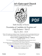St. Martin's Episcopal Church Worship Bulletin - May 13, 2012 - 10:15 a.m.