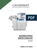 Ricoh Mpc2000 Parts Catalog